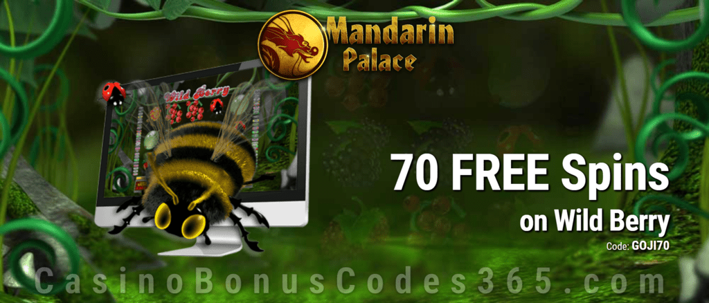 Mandarin Palace Online Casino 70 FREE Saucify Wild Berry Spins Exclusive Offer