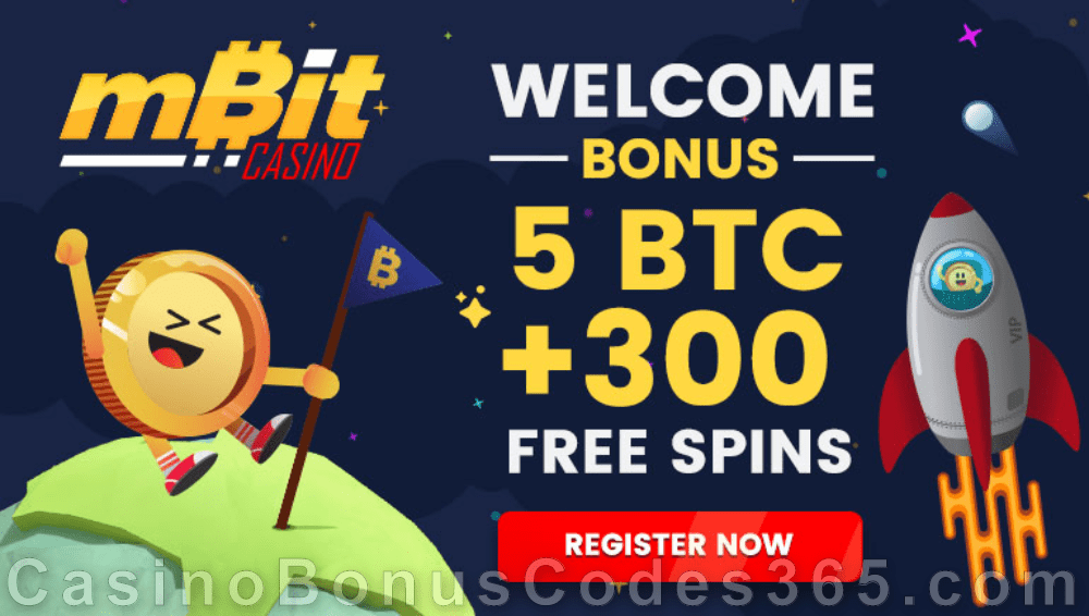 mBit Casino 5 BTC plus 300 FREE Spins Welcome Bonus