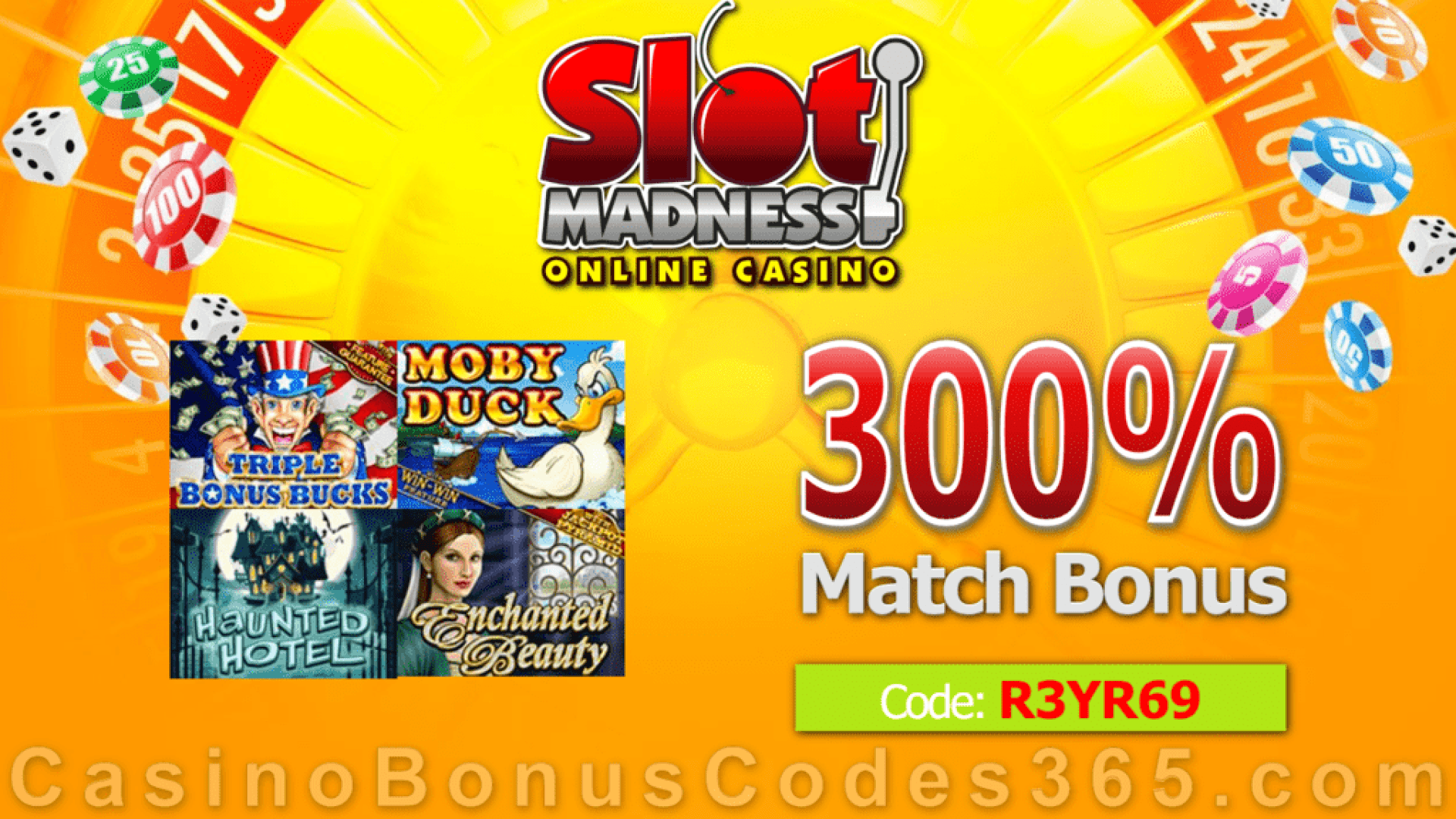 Slot Madness 300% Match Special Deal