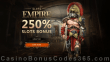 Slots Empire 250% Match Welcome Bonus