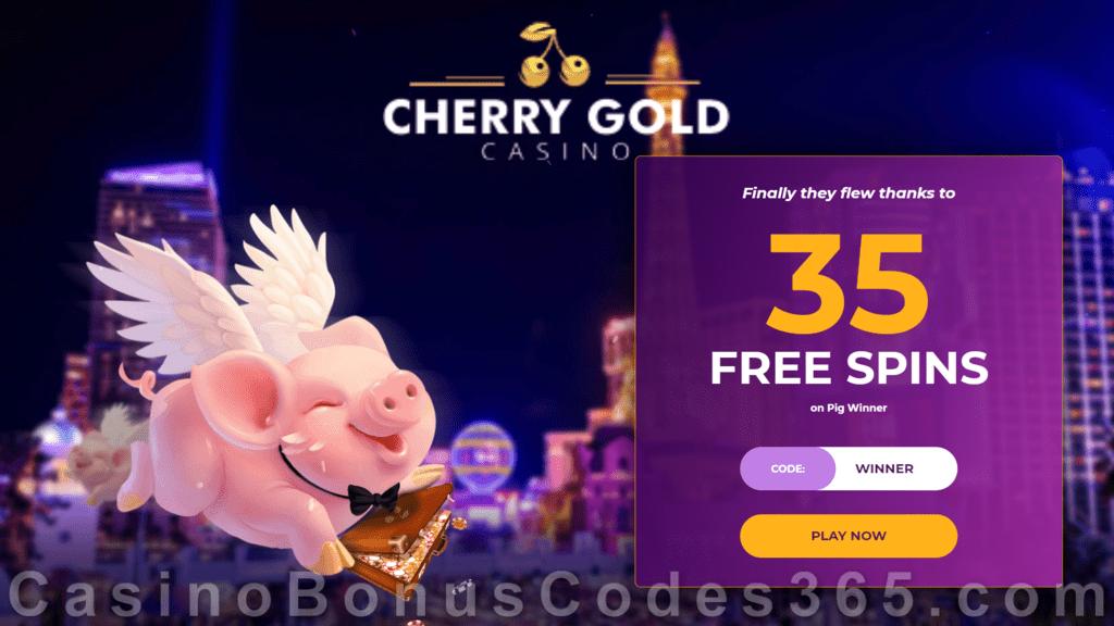 Cherry Gold Casino 35 Free Spins On Pig Winner No Deposit Welcome