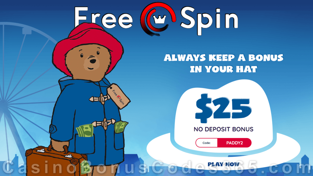 Free Spin Casino 25 No Deposit Free Chip Special Deal Casino