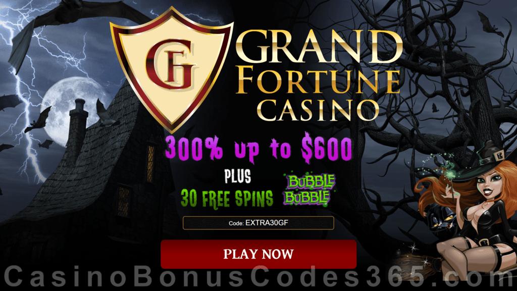 Grand Fortune Casino 300 Match Bonus Plus 30 Free Bubble Bubble