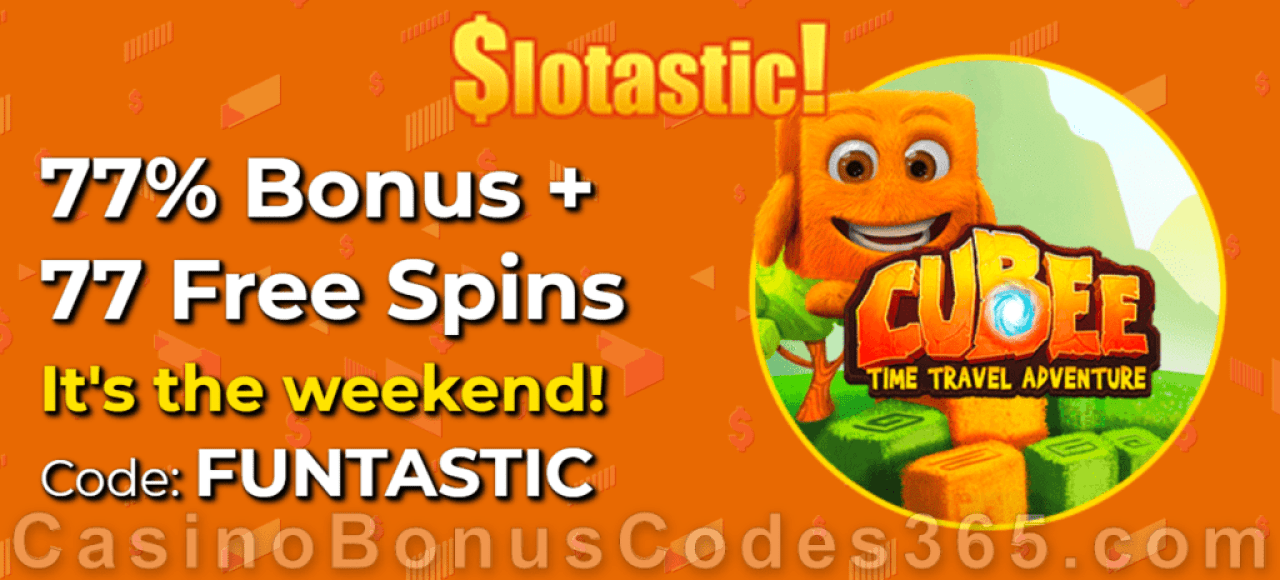 Slotastic Online Casino RTG Cubee June Weekend Offer