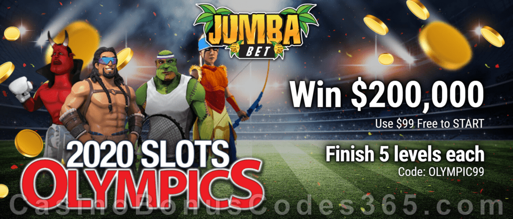 Jumba Bet 2020 Slots Olympics Promotion!