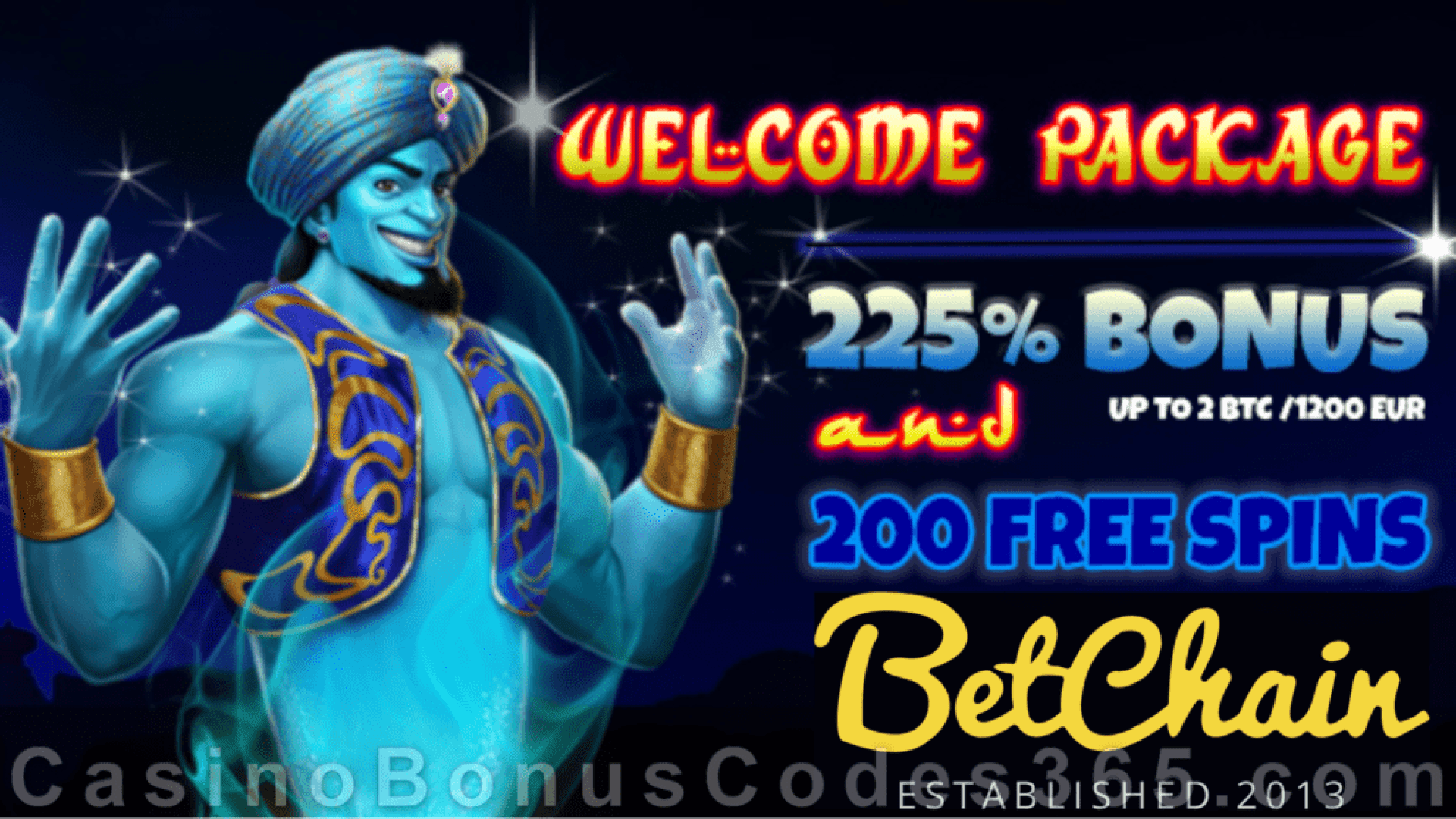 Betchain Bitcoin Casino 225% Bonus plus 200 FREE Spins Welcome Package New Crytocurrencies accepted as deposit option