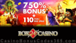 Box 24 Casino 750% Match Bonus plus 110 FREE Spins Welcome Pack