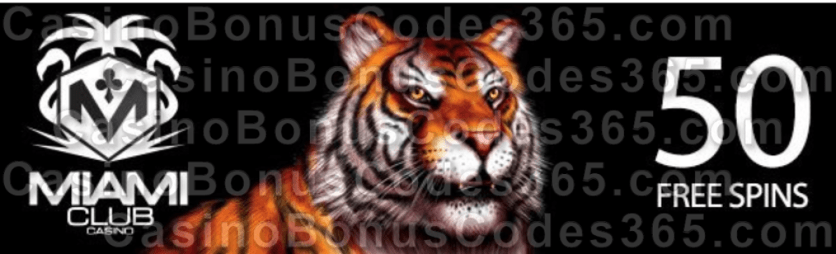 Miami Club Casino 50 FREE Spins on WGS King Tiger Special Promotion Funky Chicks