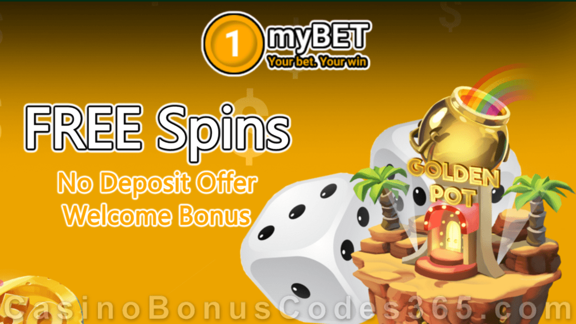 1myBet Monthly No Deposit FREE Spins Welcome Promotion