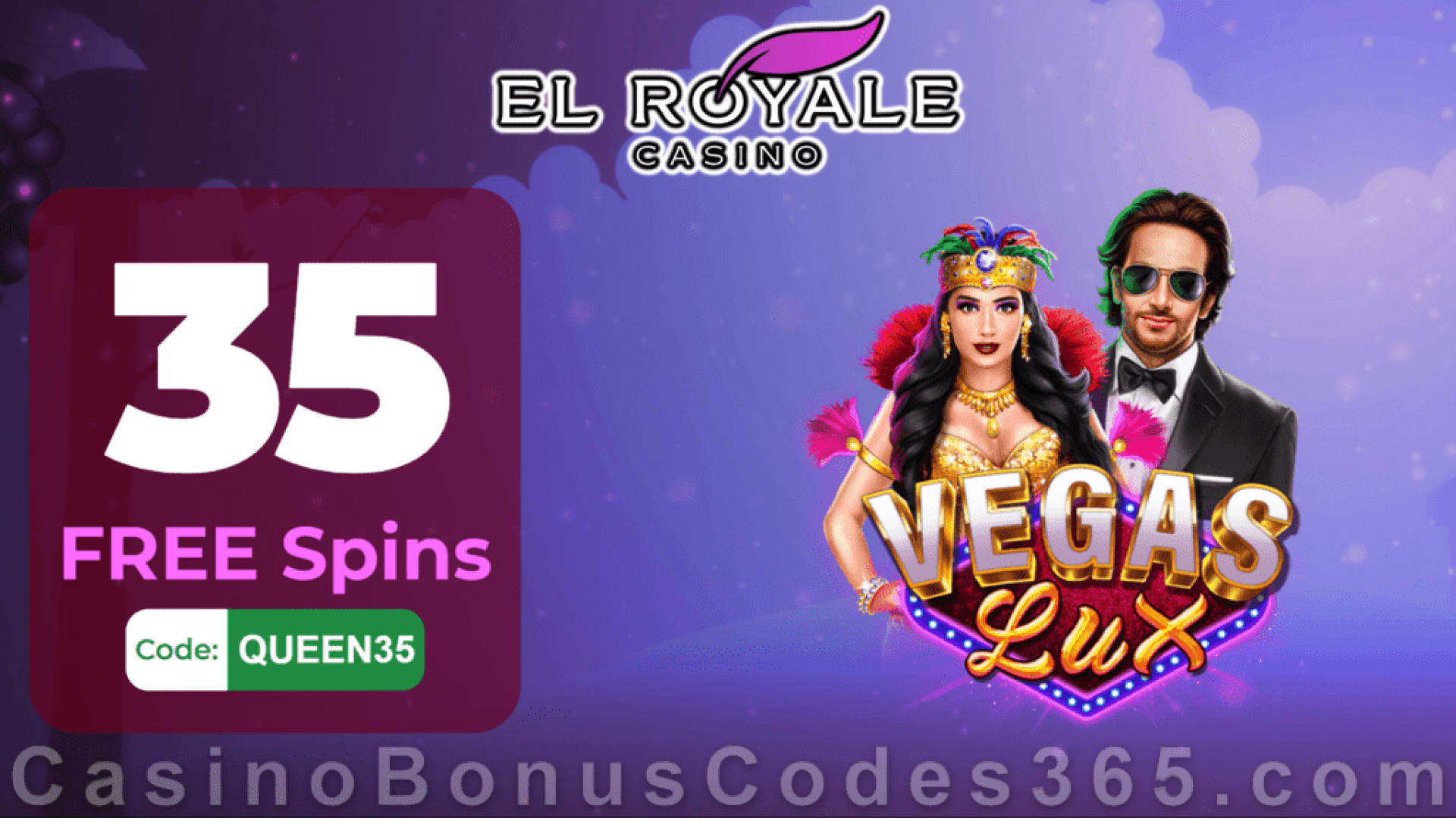 El Royale Casino Exclusive 35 FREE Spins on RTG Vegas Lux New Players No Deposit Promotion