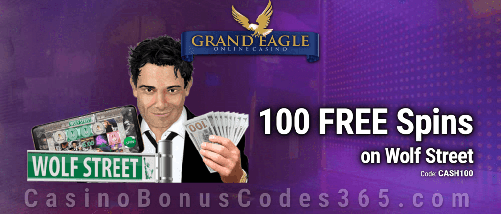 Grand Eagle Casino Exclusive 100 FREE Spins on Saucify Wolf Street