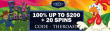 Lincoln Casino 100% Match up to $200 Bonus plus 20 FREE Spins on WGS Funky Chicken Joining Promo
