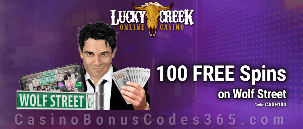 Lucky Creek 100 FREE Saucify Wolf Street Spins Exclusive Deal