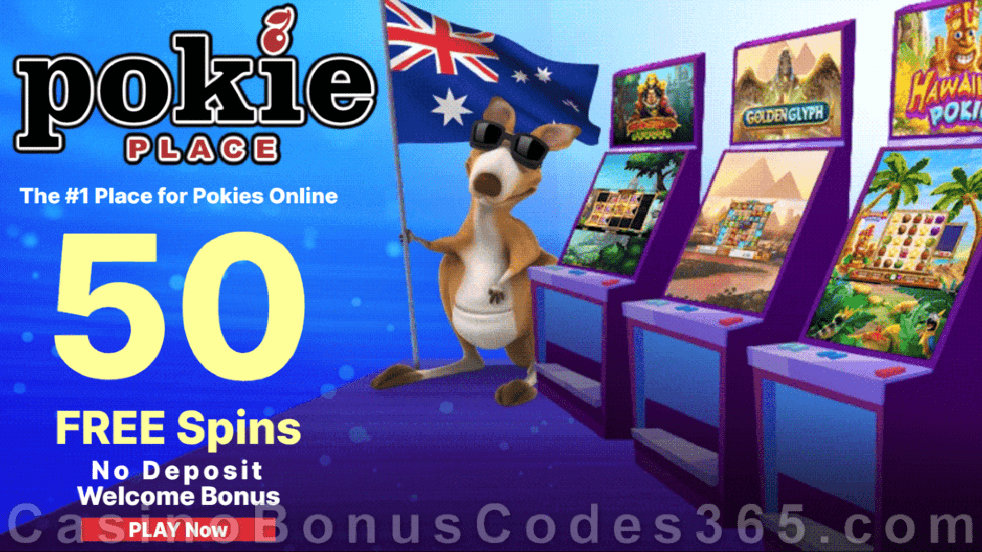 Pokie Place 50 FREE Spins No Deposit Welcome Bonus Chili Desert, Farm Ville, Sheriff's Justice, Alchemy Book, Wolf's Quest