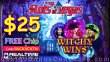 Slots of Vegas $25 FREE Chip New RTG Game Witchy Wins Special No Deposit Deal