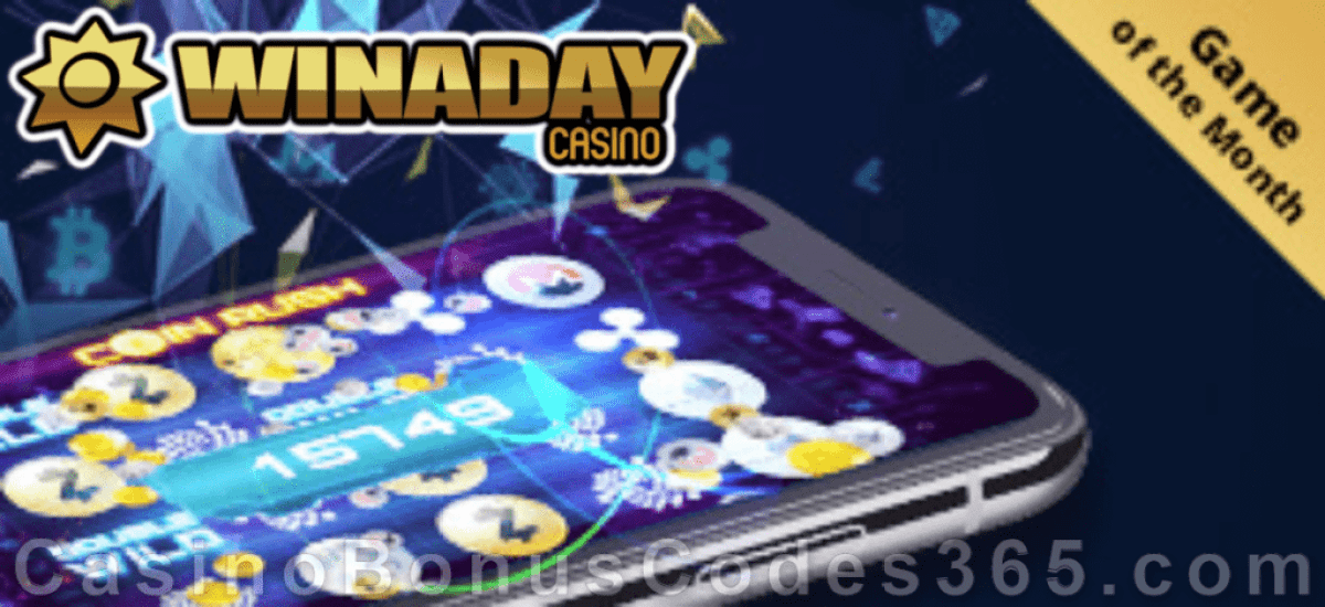 Win A Day Casino Special Coin Rush September Game of the Month Promotion