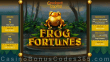 Jackpot Capital Frog Fortunes New RTG Game Special Bonuses