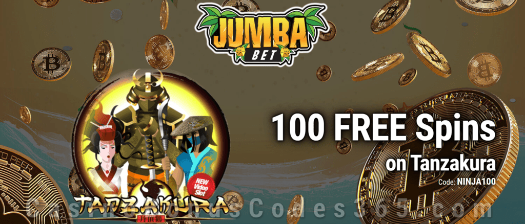 Jumba Bet Exclusive No Deposit 100 FREE Saucify Tanzakura Spins Offer