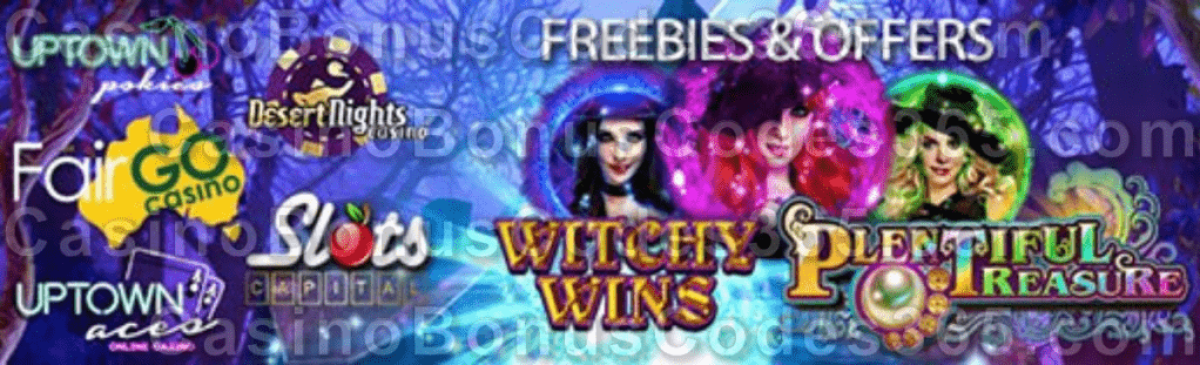 Uptown Aces Uptown Pokies Fair Go Casino Desert Nights Casino Slots Capital Online Casino October Offers and FREEbies RTG Witchy Wins Plentiful Treasure
