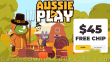 AussiePlay Casino Special $45 FREE Chip Thanksgiving No Deposit Offer