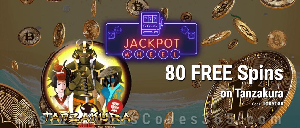 Jackpot Wheel 80 FREE Saucify Tanzakura Spins Exclusive No Deposit All Players Promo