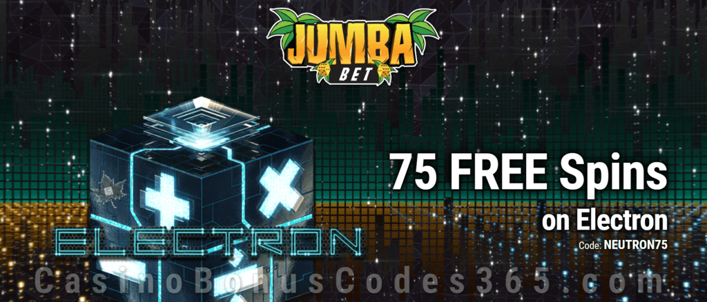 Jumba Bet Exclusive No Deposit 75 FREE Saucify Electron Spins Offer
