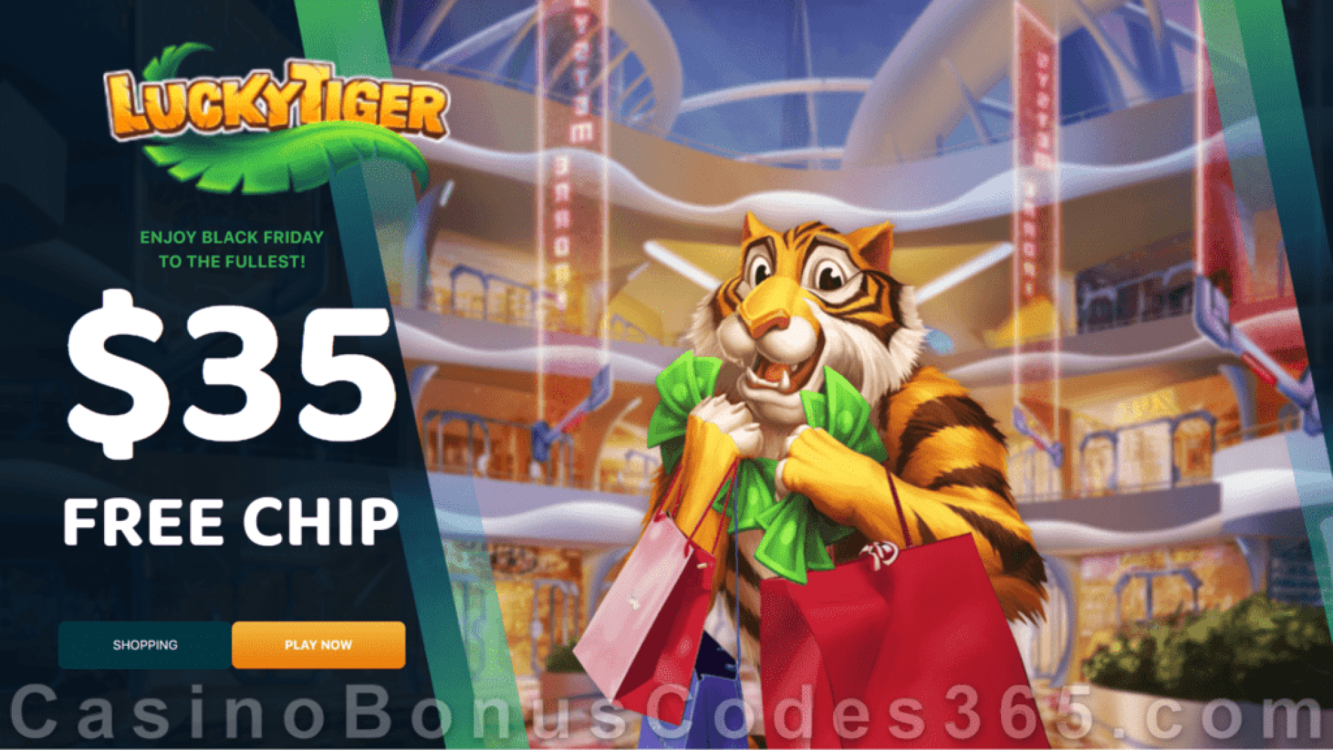 Lucky Tiger Casino $35 FREE Chip Black Friday No Deposit Deal