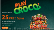 PlayCroco New RTG Game 20 FREE Epic Holiday Party Spins Special No Deposit Offer for All Players