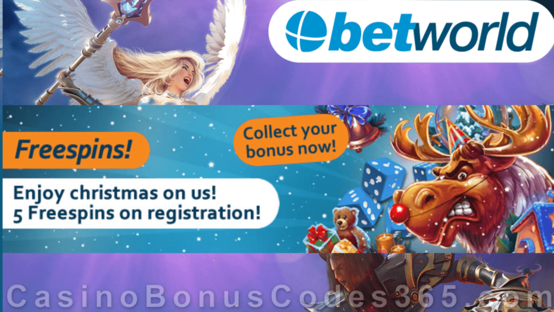 Betworld Casino 5 FREE iSoftBet Raging Reindeer Spins No Deposit Xmas 2020 Sign Up Offer