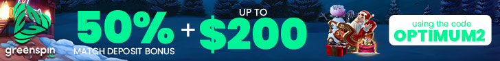 GreenSpin 50% Match Bonus plus 100 FREE Spins Welcome Package