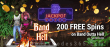 Jackpot Wheel 200 FREE Spins on Saucify Band Outta Hell Special No Deposit Promotion