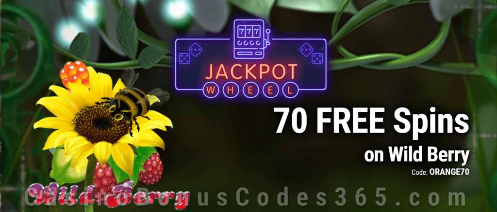 Jackpot Wheel 70 FREE Saucify Wild Berry Spins Exclusive No Deposit All Players Promo