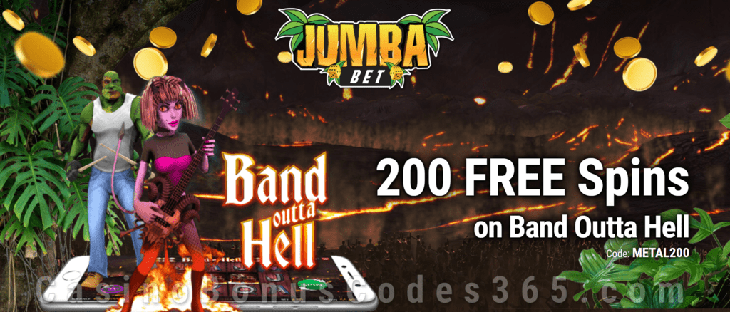 Jumba Bet Exclusive No Deposit 200 FREE Saucify Band Outta Hell Spins Offer