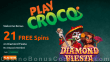 PlayCroco 21 FREE Spins on RTG Diamond Fiesta New Year 2021 No Deposit Special Offer for All Players