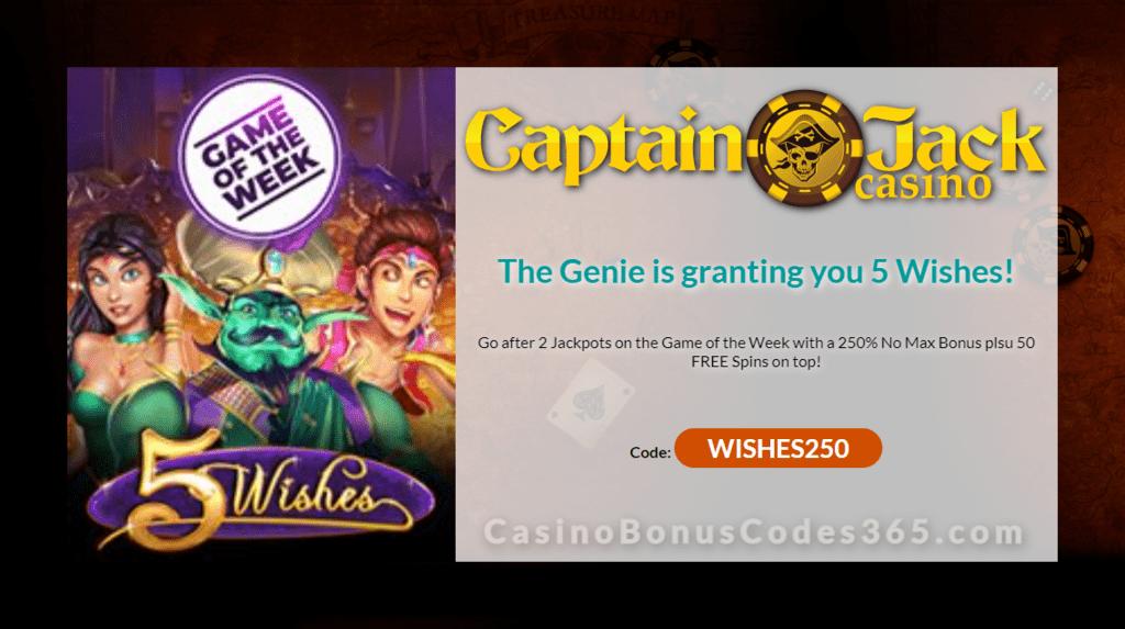 Captain Jack Casino No Deposit Bonus Codes June 2019