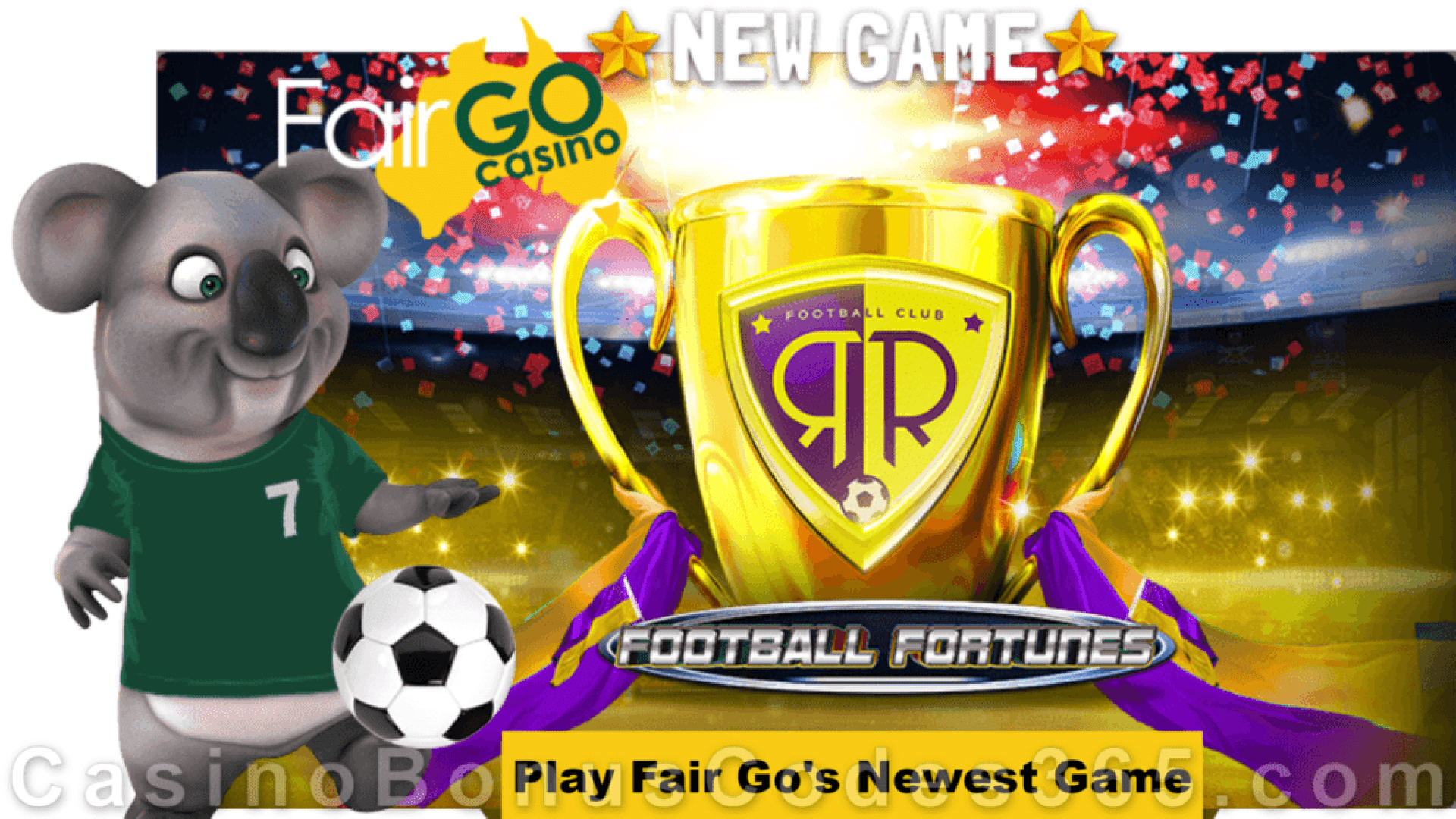 Fair Go Casino New RTG Game Football Fortunes is LIVE