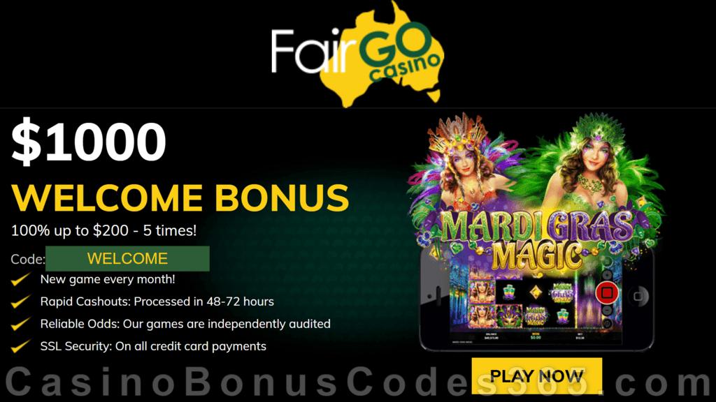 Fair Go Casino RTG Mardi Gras Magic