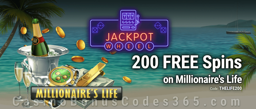 Jackpot Wheel 200  FREE Saucify Millionaire's Life Spins Exclusive No Deposit All Players Promo