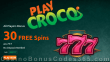 PlayCroco 30 FREE RTG 777 Spins All Players No Deposit Special Offer
