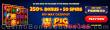 Slots of Vegas 250% Match No Max Bonus plus 50 FREE Spins on RTG Pig Winner Game of the Week Special Promo