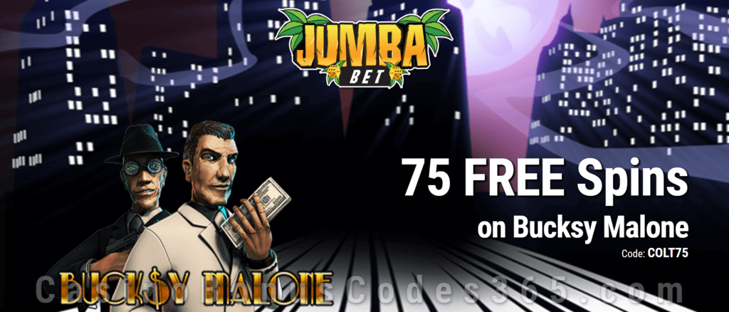 Jumba Bet Exclusive No Deposit 75 FREE Saucify Bucksy Malone Spins Offer