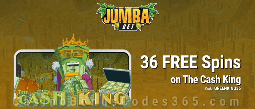 Jumba Bet Exclusive No Deposit 36 FREE Saucify The Cash King Spins Offer