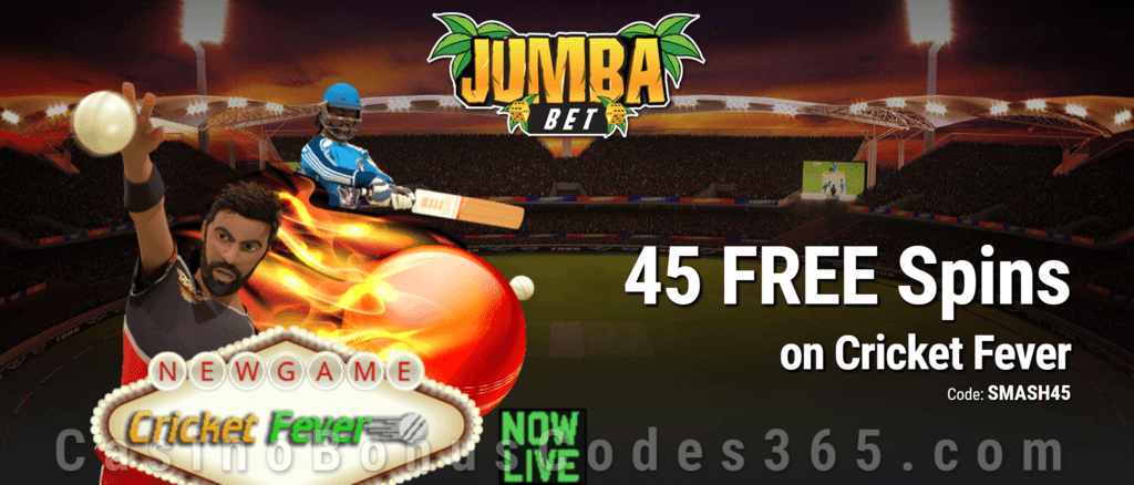 Jumba Bet Exclusive No Deposit 45 FREE Saucify Cricket Fever Spins Offer