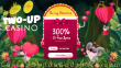 Two-up Casino 300% Match plus 30 FREE Spins on RTG Plentiful Treasure Special St. Valentine's Day Offer