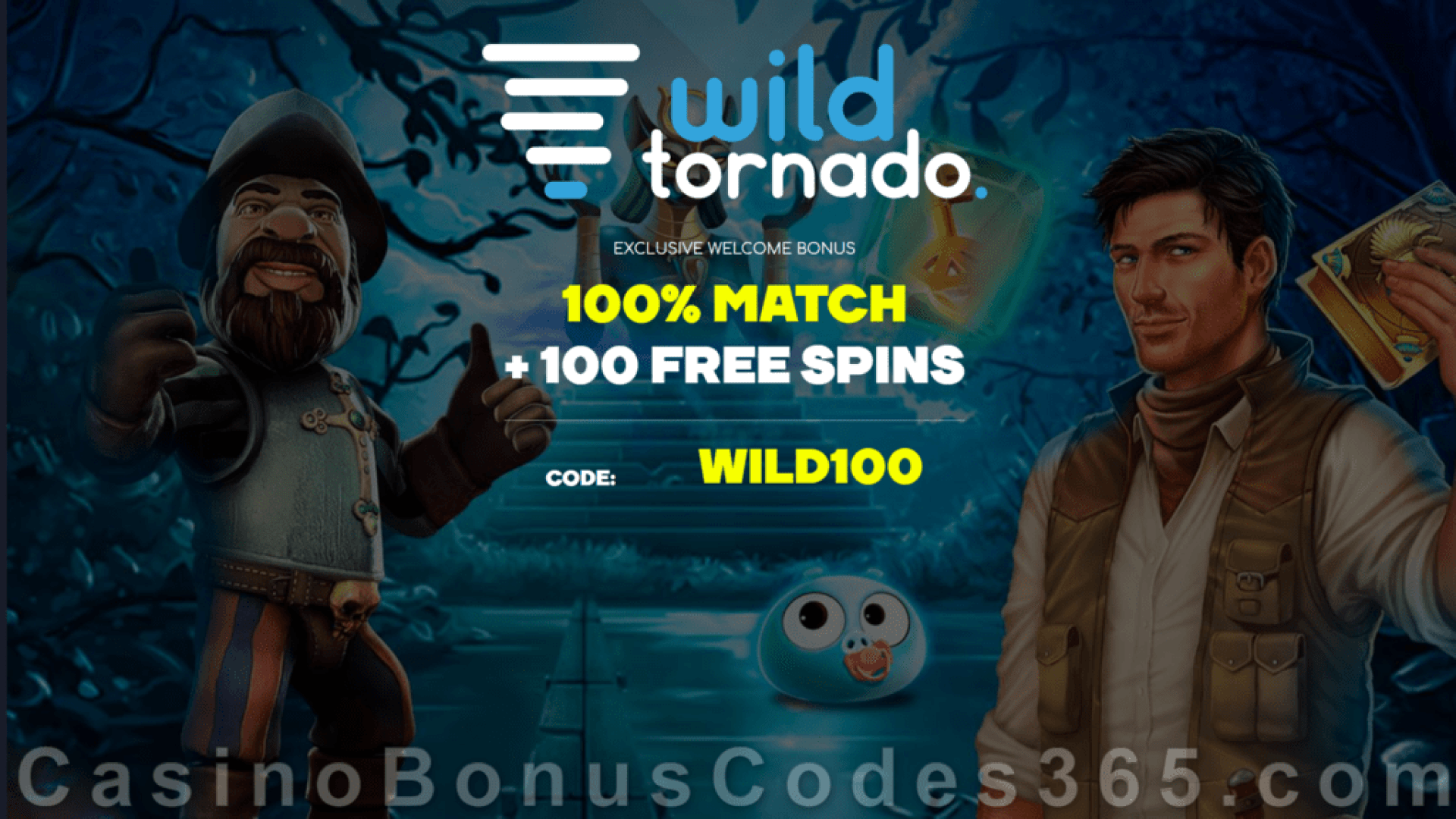 WildTornado Casino 100% Match up to $1000 Bonus plus 100 FREE Spins Welcome Package IGTech Wolf Treasure