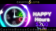 CryptoSlots $200 Happy Hours Top Ups Special Deal