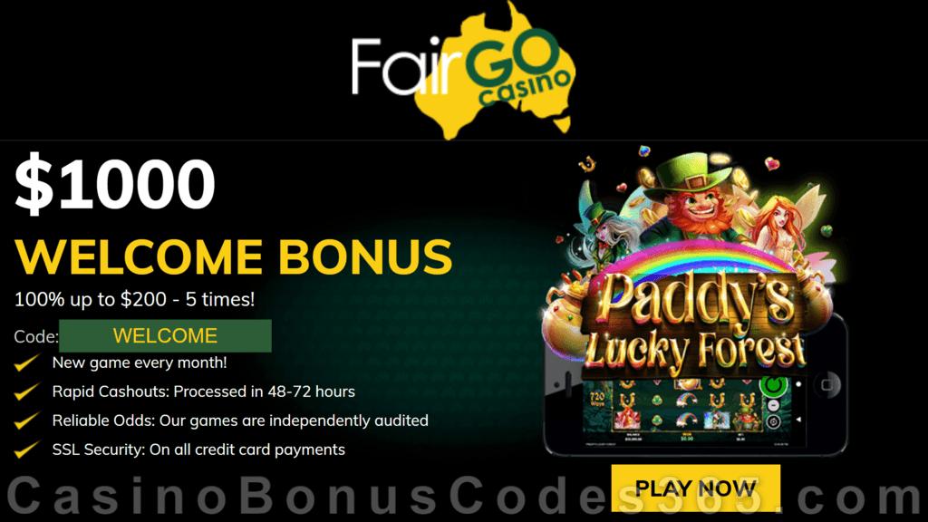 Fair Go Casino RTG Paddy's Lucky Forest