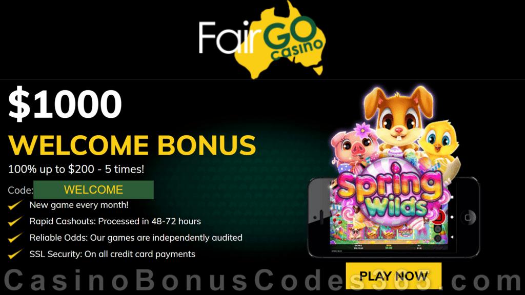 Fair Go Casino RTG Spring Wilds