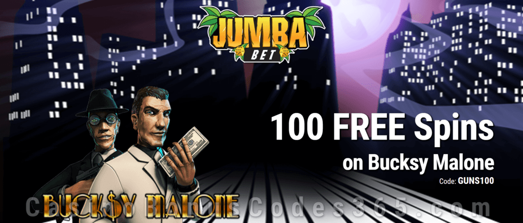 Jumba Bet Exclusive No Deposit 100 FREE Saucify Bucksy Malone Spins Offer