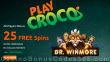 PlayCroco 25 FREE Spins on RTG Dr. Winmore Special All Players No Deposit Bonus